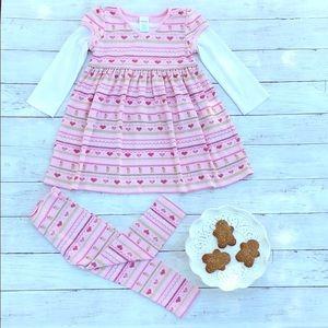 Gymboree Gingerbread Girl Fair Isle Dress Leggings